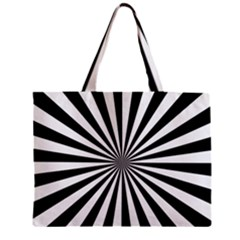 Rays Stripes Ray Laser Background Zipper Mini Tote Bag