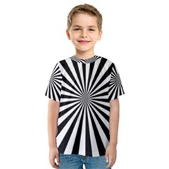 Rays Stripes Ray Laser Background Kids  Sport Mesh Tee