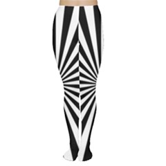 Rays Stripes Ray Laser Background Women s Tights