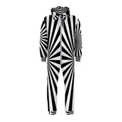 Rays Stripes Ray Laser Background Hooded Jumpsuit (kids)