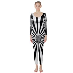 Rays Stripes Ray Laser Background Long Sleeve Catsuit