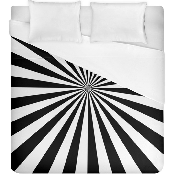 Rays Stripes Ray Laser Background Duvet Cover (King Size)