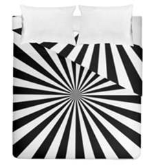 Rays Stripes Ray Laser Background Duvet Cover Double Side (queen Size)
