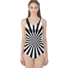 Rays Stripes Ray Laser Background One Piece Swimsuit