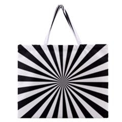 Rays Stripes Ray Laser Background Zipper Large Tote Bag