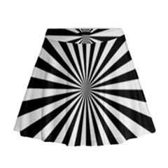 Rays Stripes Ray Laser Background Mini Flare Skirt