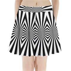 Rays Stripes Ray Laser Background Pleated Mini Skirt