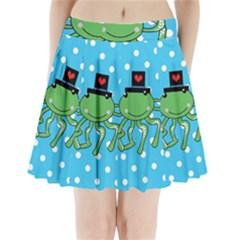 Octopus Sea Animal Ocean Marine Pleated Mini Skirt
