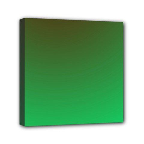 Course Colorful Pattern Abstract Green Mini Canvas 6  X 6