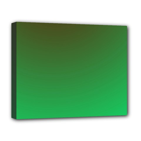 Course Colorful Pattern Abstract Green Deluxe Canvas 20  X 16