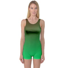 Course Colorful Pattern Abstract Green One Piece Boyleg Swimsuit