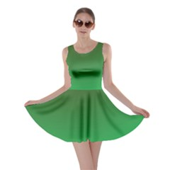 Course Colorful Pattern Abstract Green Skater Dress