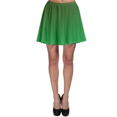 Course Colorful Pattern Abstract Green Skater Skirt