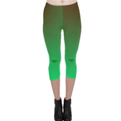 Course Colorful Pattern Abstract Green Capri Leggings