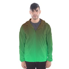 Course Colorful Pattern Abstract Green Hooded Wind Breaker (men)