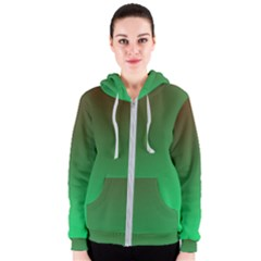 Course Colorful Pattern Abstract Green Women s Zipper Hoodie