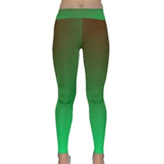 Course Colorful Pattern Abstract Green Classic Yoga Leggings