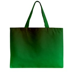 Course Colorful Pattern Abstract Green Zipper Mini Tote Bag