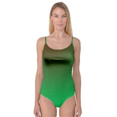 Course Colorful Pattern Abstract Green Camisole Leotard