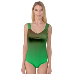 Course Colorful Pattern Abstract Green Princess Tank Leotard