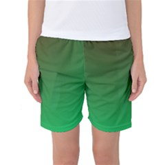 Course Colorful Pattern Abstract Green Women s Basketball Shorts