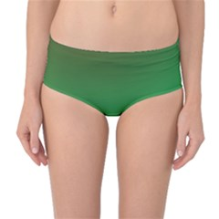 Course Colorful Pattern Abstract Green Mid Waist Bikini Bottoms