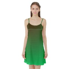 Course Colorful Pattern Abstract Green Satin Night Slip