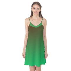 Course Colorful Pattern Abstract Green Camis Nightgown