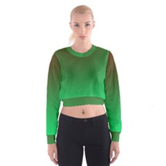 Course Colorful Pattern Abstract Green Cropped Sweatshirt