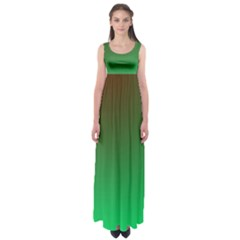 Course Colorful Pattern Abstract Green Empire Waist Maxi Dress