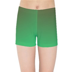 Course Colorful Pattern Abstract Green Kids Sports Shorts
