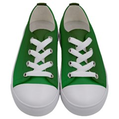 Course Colorful Pattern Abstract Green Kids  Low Top Canvas Sneakers
