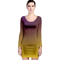 Course Colorful Pattern Abstract Long Sleeve Bodycon Dress