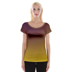 Course Colorful Pattern Abstract Cap Sleeve Tops