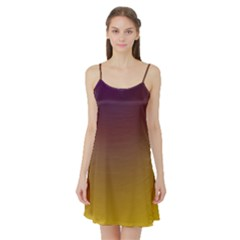 Course Colorful Pattern Abstract Satin Night Slip