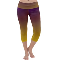 Course Colorful Pattern Abstract Capri Yoga Leggings