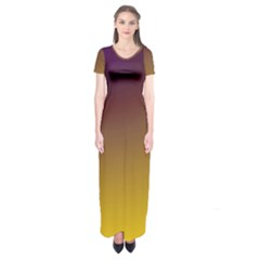 Course Colorful Pattern Abstract Short Sleeve Maxi Dress