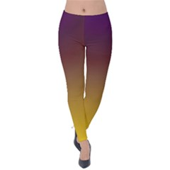 Course Colorful Pattern Abstract Velvet Leggings