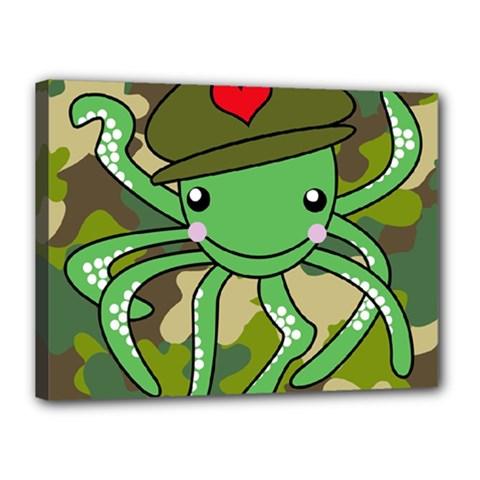 Octopus Army Ocean Marine Sea Canvas 16  X 12