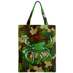 Octopus Army Ocean Marine Sea Zipper Classic Tote Bag
