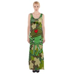 Octopus Army Ocean Marine Sea Maxi Thigh Split Dress