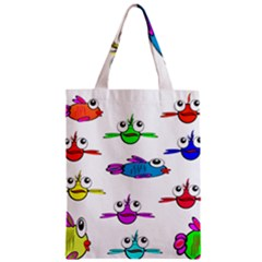 Fish Swim Cartoon Funny Cute Zipper Classic Tote Bag