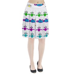 Fish Swim Cartoon Funny Cute Pleated Skirt
