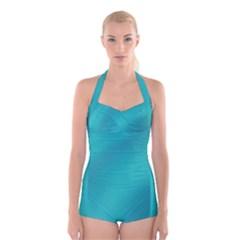 Background Image Background Colorful Boyleg Halter Swimsuit