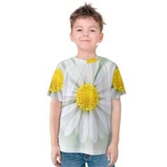Art Daisy Flower Art Flower Deco Kids  Cotton Tee