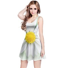Art Daisy Flower Art Flower Deco Reversible Sleeveless Dress