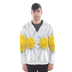 Art Daisy Flower Art Flower Deco Hooded Wind Breaker (men)
