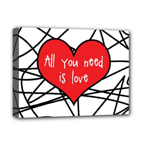 Love Abstract Heart Romance Shape Deluxe Canvas 16  X 12