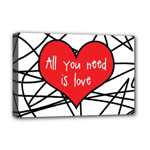 Love Abstract Heart Romance Shape Deluxe Canvas 18  X 12