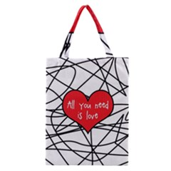 Love Abstract Heart Romance Shape Classic Tote Bag